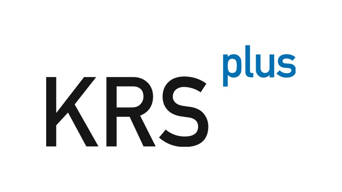 krs plus logo white